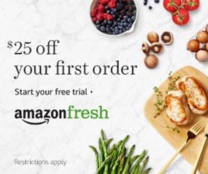 Start your free AmazonFresh trial