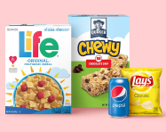 Save up to 25% now on snacks, drinks and more!