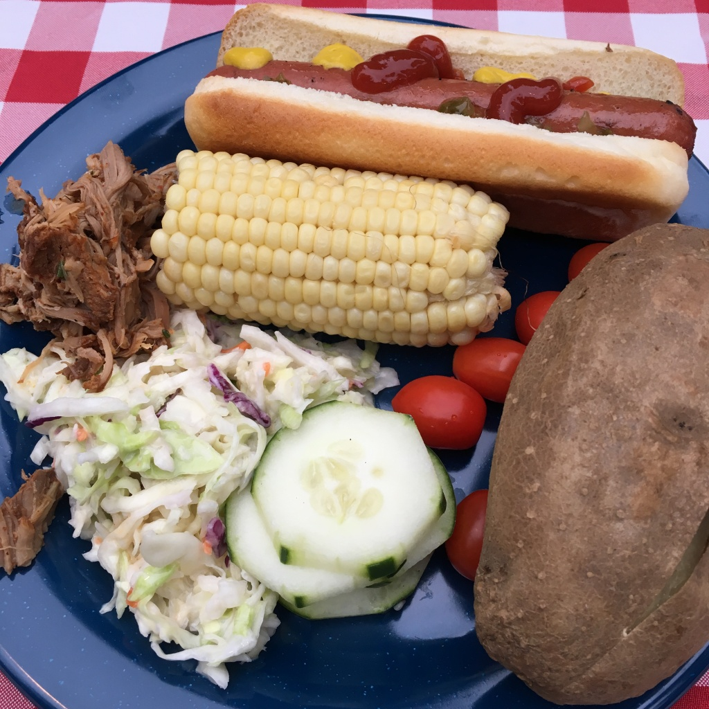 "The ""Good Ol' Country Cookin"" meal our Teuko Family had in Yosemite, California."