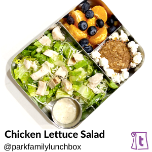 Chicken Lettuce Salad by Parkfamilylunchbox , found on Teuko.com, the online community for lunchbox packers