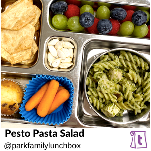 Pesto Pasta Salad by Parkfamilylunchbox, , found on Teuko.com, the online community for lunchbox packers