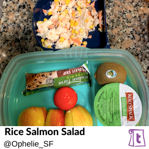 Rice Salmon Salad by Ophelie SF , found on Teuko.com, the online community for lunchbox packers