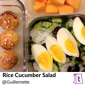 Rice Cucumber Salad, found on Teuko.com, the online community for lunchbox packers