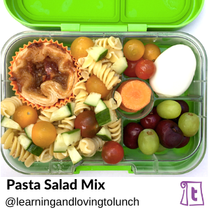 Pasta salad mix from Learningandlovingtolunch, found on Teuko.com, the online community for lunchbox packers