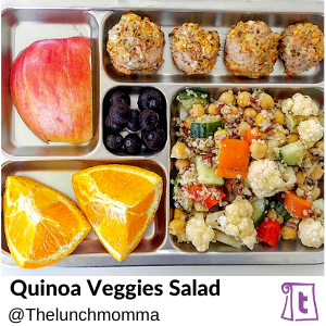 Quinoa Veggies salad by Thelunchmomma , found on Teuko.com, the online community for lunchbox packers