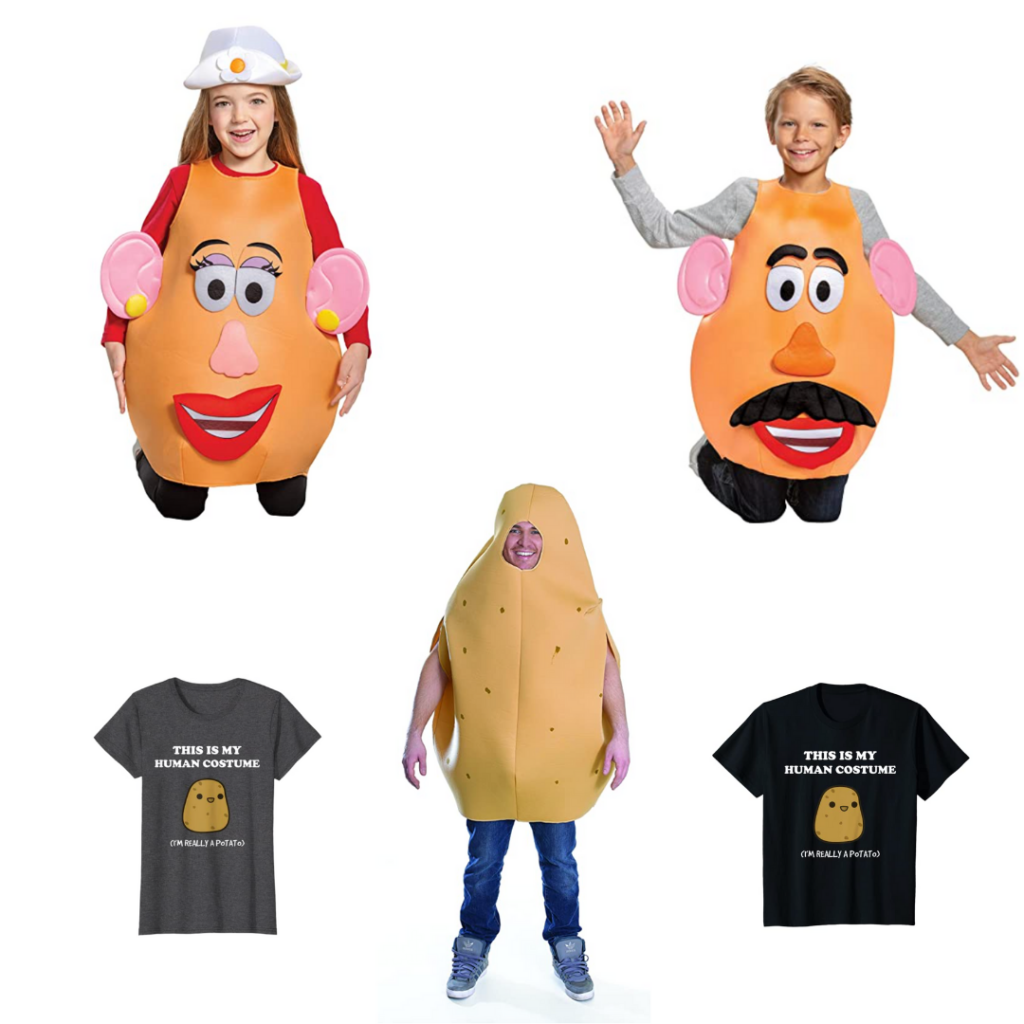 Potato costumes for the whole family for Halloween 2020