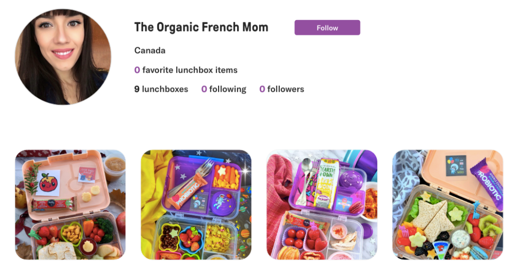 The Organic French Mom Profile on Teuko, the lunchbox community