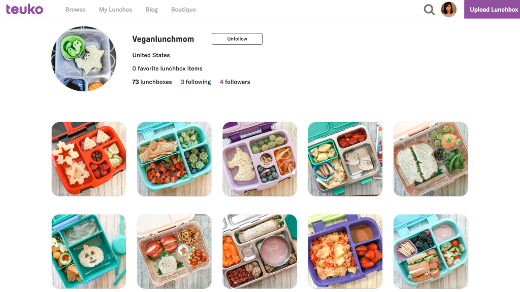 Veganlunchmom's profile on Teuko.com, the online community for lunchbox packers