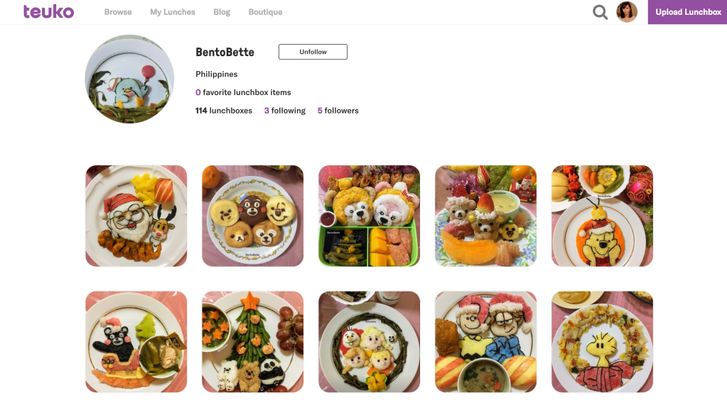 Bentobette profile on Teuko.com, the online community for families packing lunch bento lunch boxes.