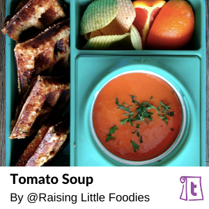 Hot or cold, tomato soups are perfect with grilled cheese for the lunchbox