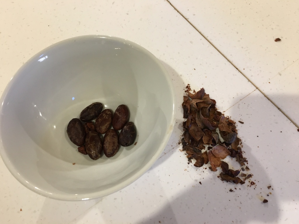 Teuko.com the lunchbox community. Roasted cocoa nibs separated from shells.