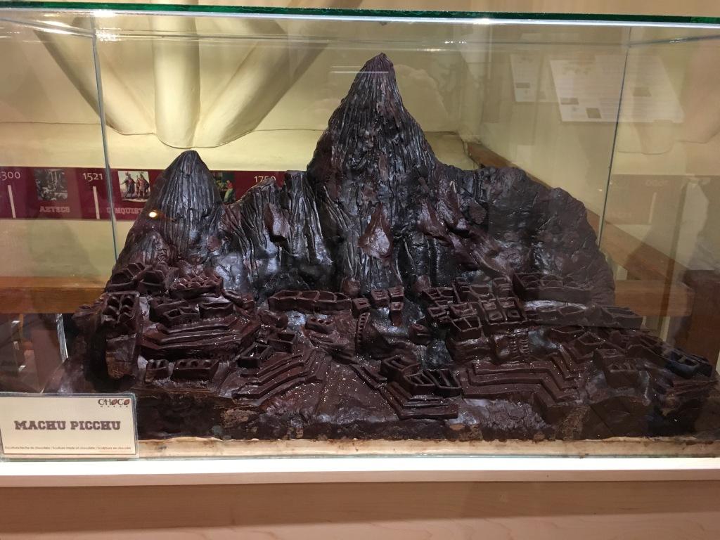 Teuko.com the lunchbox community - Machu Picchu in chocolate at the ChocoMuseo in Cusco, Peru.