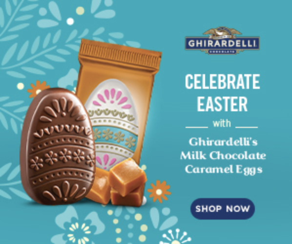 Teuko.com the lunchbox community - Ghirardelli chocolates easter celebration banner