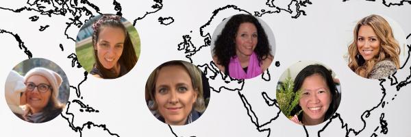 The Team Behind The #lunchboxesaroundtheworld Challenge. Meet Noemie (@funkytartines, Belgium), Filio (@abc_lunchies, Cyprus),Sabine (@Pausenbrojunkie, Germany), Inga (@kidscantwaiforlunch, Canada), Clare (@snackboxdiairies, Singapore), and Karla (@lunchatnoone, USA)