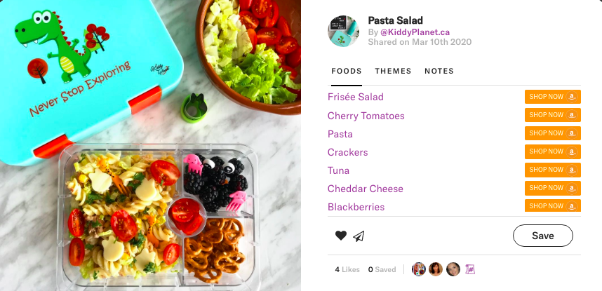 Joyful pasta salad by @kiddyplanet.ca on Teuko.com