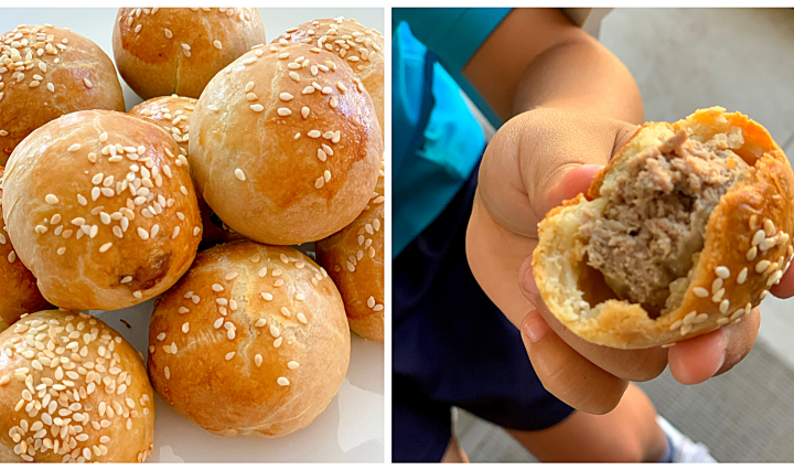 Hidden Burger Buns, the easy recipe by Filio (Credit @abc_lunchies)