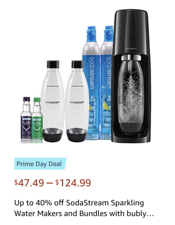 Soda stream water makers sales Amazon Prime Day Deals 2021