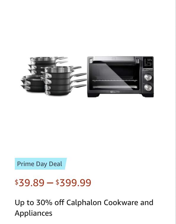 Calphalon Appliances Amazon Prime Day deals 2021