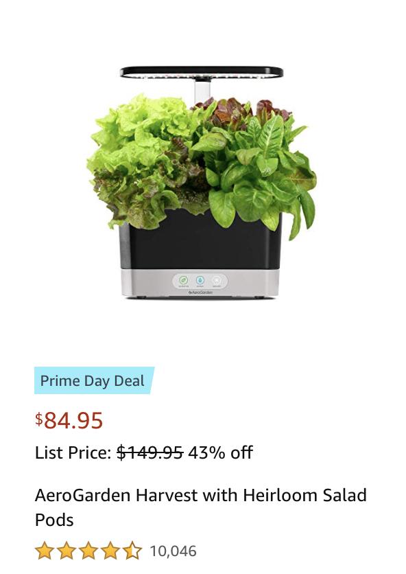 Aerogarden kit Amazon Prime Day 2021 deals