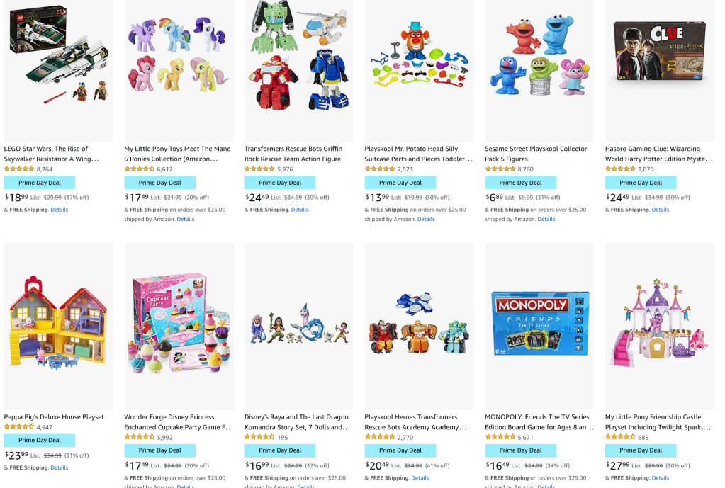 Character Toys Amazon prime day deals 2021