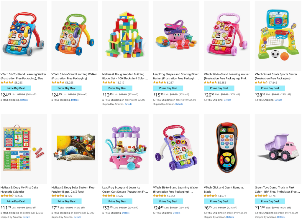 Melissa & Doug VTech Toys for toddlers Young Kids Amazon Prime Day 2021 Deals