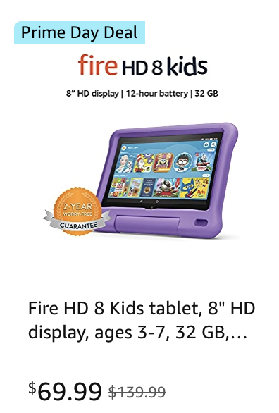 Kids tablet Amazon Prime Day deal