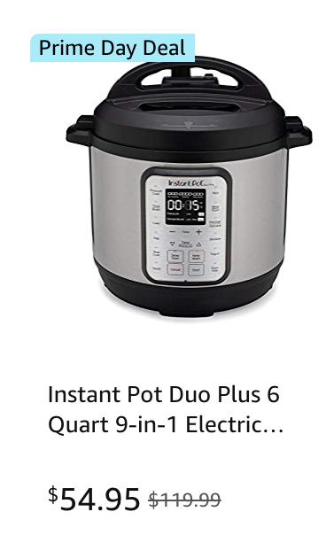 Amazon prime day 2021 super deal on Instant pot