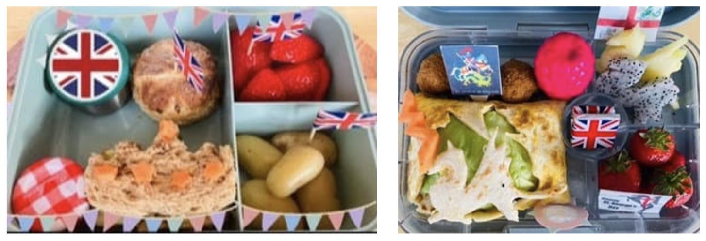 Teuko Lunchbox Community - Lunchboxforlulu's bento lunchbox for her kid. England theme.