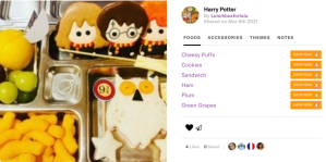 Teuko Lunchbox Community - Lunchboxforlulu's Harry Potter bento lunch box for kids.