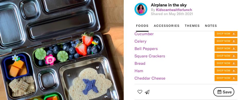 Airplane lunchbox by @kidscantwautforlunch
